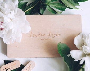 Wooden photo box 4x6(15x10) for photo packaging with USB photo  box