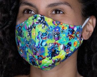 Tiny Costume Stitch - Disney Stitch - Reusable/Reversible Face Mask