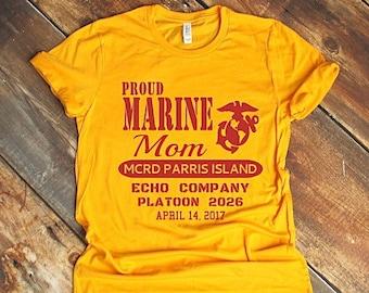 e0dacc39 Marine Graduation Shirts / USMC graduation shirts / Marine Corps Family Day  Shirts / Bootcamp Graduation