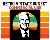 Mike Pence Retro Sunset Circle PNG Vice President United States Commercial Use Clipart Republican
