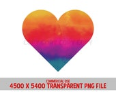 Heart Rainbow Tie Dye Stain Red Pink Love Valentines Relationships Design Commercial Use Transparent Graphics Clipart