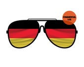 Germany Flag Sunglasses Clip Art Glasses Graphics PNG Design File Background Elements Design Commercial Use Transparent