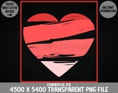 Heart Clipart - Valentines Graphics - PNG File for Romance or Love Designs, Red or Pink Heart Commercial Use Transparent