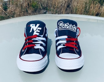 31fe5c9ce491 New England Patriots Shoes Converse All Star