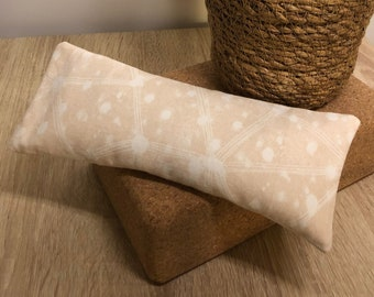 """Flax Eye Pillow """"PEACHY"""" with Removable Cover"""
