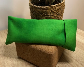 """Flax Eye Pillow """"JAY"""" with Removable Cover   Option to be infused with Healing Crystals"""
