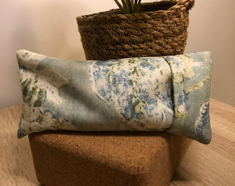 """Flax Eye Pillow """"ROCCO"""" With Removable Cover   Option to be infused with Healing Crystals"""