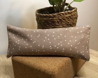 """Flax Eye Pillow """"DOTTY"""" with Removable Cover   Option to be infused with Healing Crystals"""
