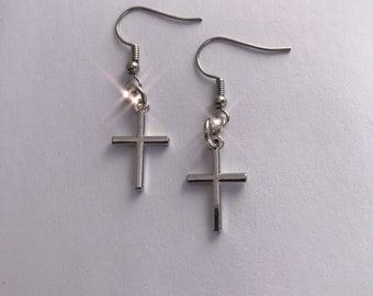 4d2aa53419d5e Cross earrings dangle | Etsy