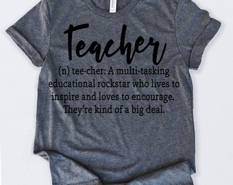 5b15a52a5 Teacher Definition Tshirt Funny Sarcastic Humor Comical Tee