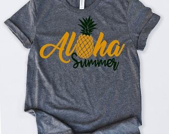 894fca92 Aloha Summer Tshirt Funny Sarcastic Humor Comical Tee