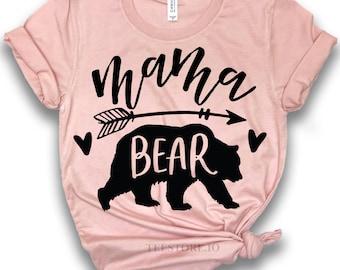 714c058f80f55 Mama Bear Shirt - Mom To Be Shirts - Bear Shirts - Mommy Shirts - Gift For  Mom Shirts