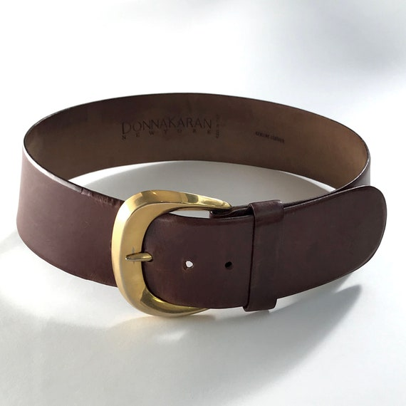 Donna Karan Brown Leather Belt