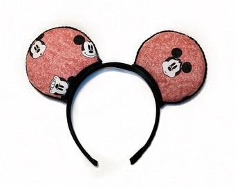 online retailer 309b6 e2bfa Emoji Mickey - BOYS ears - Disney Inspired ears - men