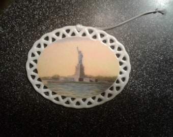 Statue of Liberty - Porcelain Ornament by noted Artist & Innkeeper, Columbia, PA