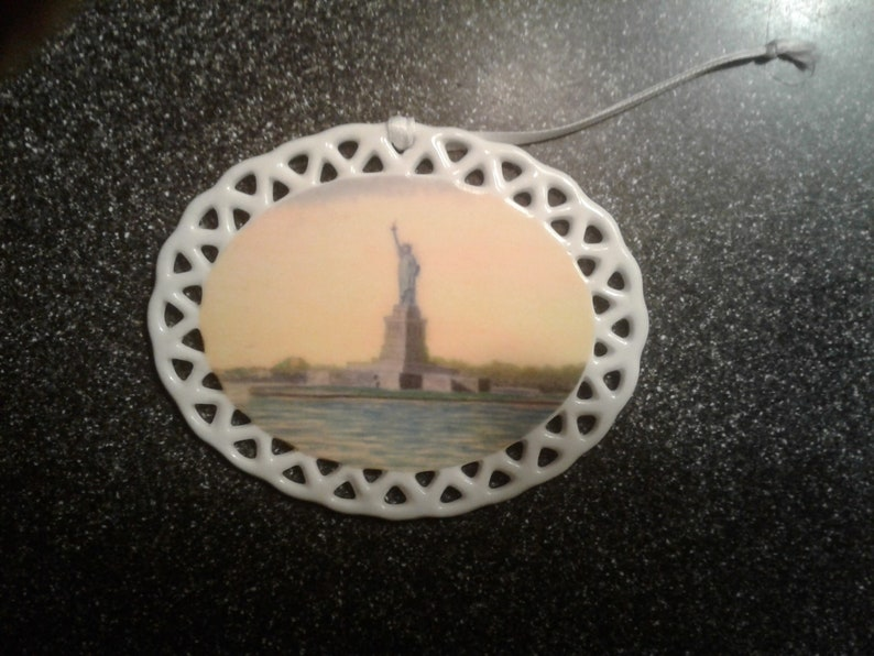 Statue of Liberty  Porcelain Ornament by noted Artist & image 0