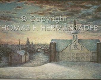 "Star Barn ""ARTIST PROOF PRINT' painted by Tom F. Hermansader (www.hermansadersartgallery.com)"