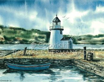Nantucket Lighthouse ARTIST PROOF by noted artist, Tom F. Hermansader