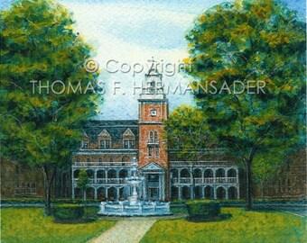 Shippensburg University ARTIST PROOF PRINT painted by noted artist, Tom F. Hermansader