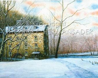 Sickman's Mill ARTIST's PROOF PRINT painted by Tom F. Hermansader (www.hermansadersartgallery.com)