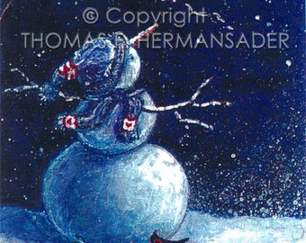 A Christmas Wish 'ARTIST'S PROOF PRINT' painted by Tom F. Hermansader