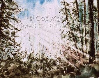 God's Beams 'ARTIST'S PROOF PRINT' painted by Tom F. Hermansader (www.hermansadersartgallery.com)