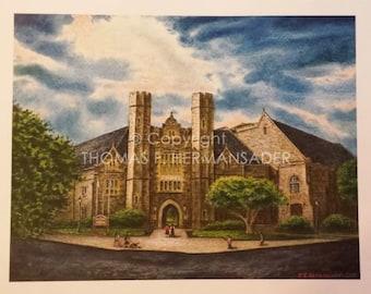 West Chester University's Emilie K. Asplundth Concert Hall 'ARTIST'S PROOF PRINT' by Tom F. Hermansader