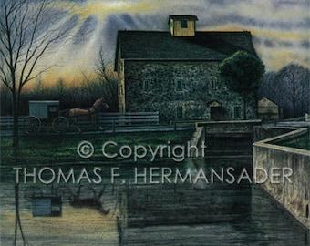Mascot Mill 'ARTIST PROOF PRINT' painted by Tom F. Hermansader (www.hermansadersartgallery.com)