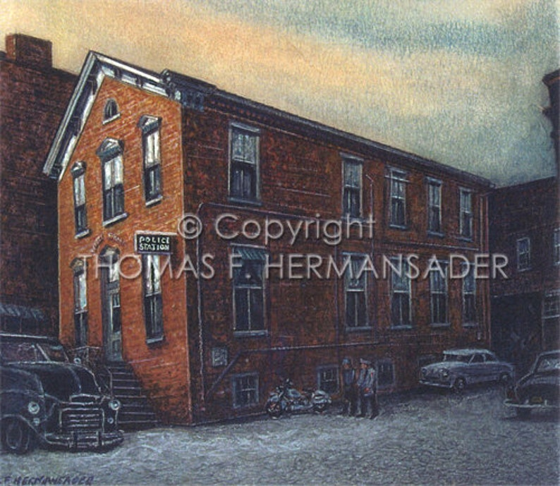 Lancaster Police Station Grant Street ARTIST PROOF PRINT by image 0