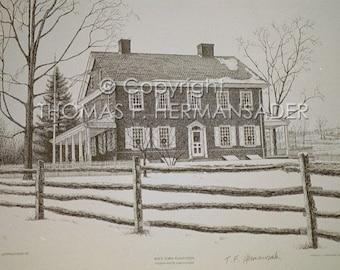 Rockford Plantation ARTIST PROOF print by noted artist, Tom F. Hermansader