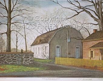 """Donegal Presbyterian Church """"ARTIST PROOF"""" print by noted artist & innkeeper, Tom F. Hermansader (hermansadersartgallery.com."""