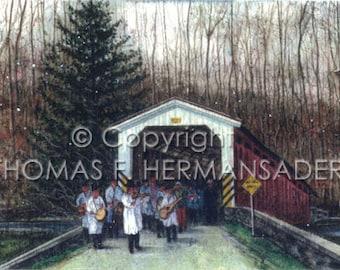 Orphie's at White Rock Covered Bridge  'ARTIST'S PROOF PRINT' painted by Tom F. Hermansader (www.hermansadersartgallery.com)