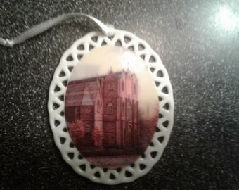 St. Mary's Catholic Church Ornament by noted Artist and Innkeeper, Tom F. Hermansader