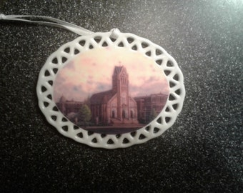 St. Anthony's Catholic Church Christmas ornament by noted Artist and Innkeeper, Tom F. Hermansader