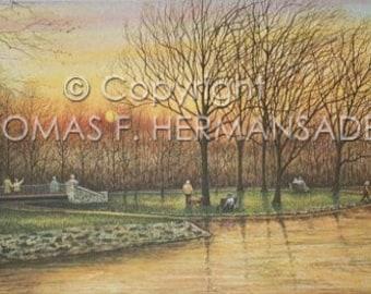 Long's Park ARTIST PROOF by noted artist, Tom F. Hermansader
