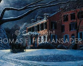 Wheatland ARTIST PROOF print by noted artist, Tom F. Hermansader