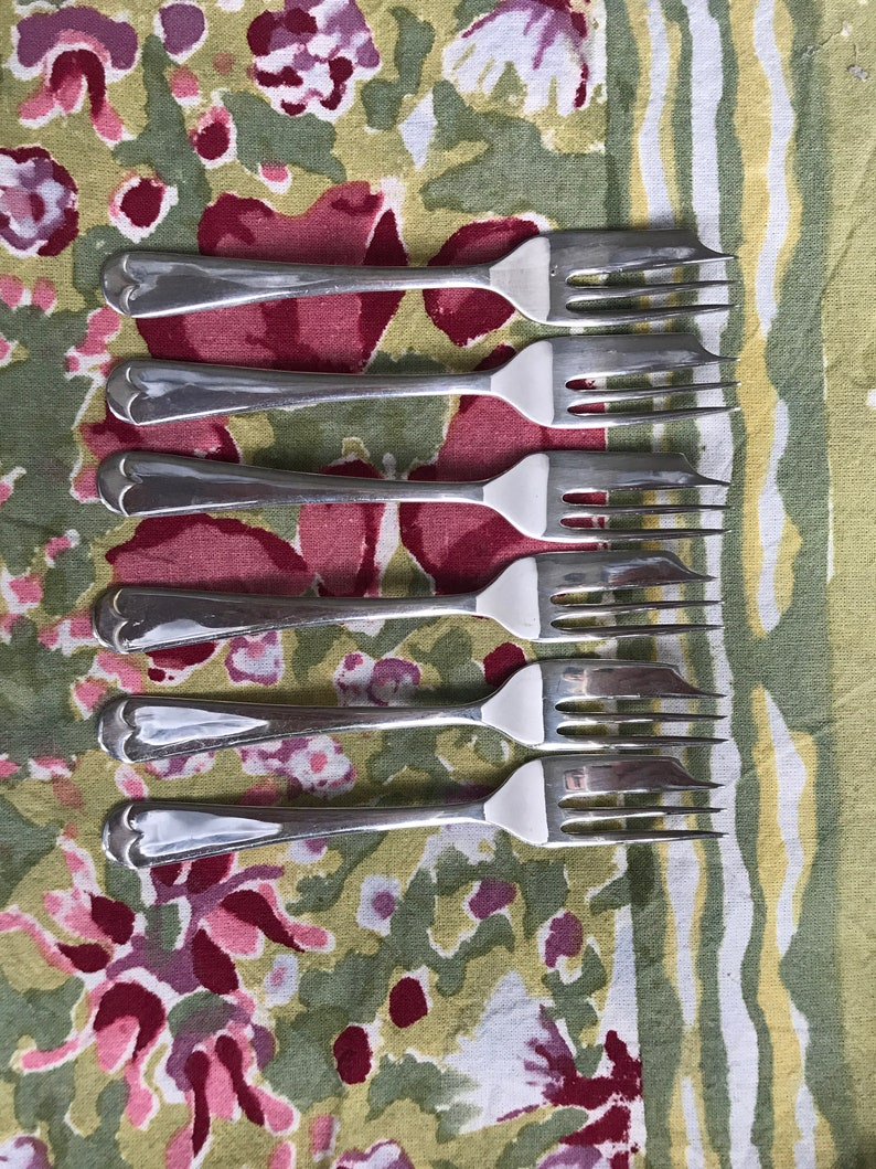 cutlery food photography props Rattail pastry forks Vintage silver plated pastry forks