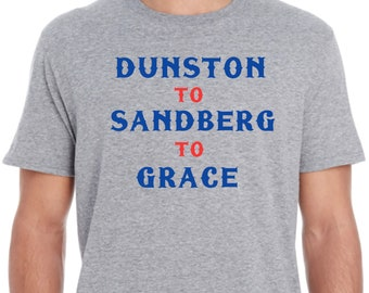 828c59e361b Chicago Cubs Double Play Combo Shirt - Dunston to Sandberg to Grace - by  J Ds Tees