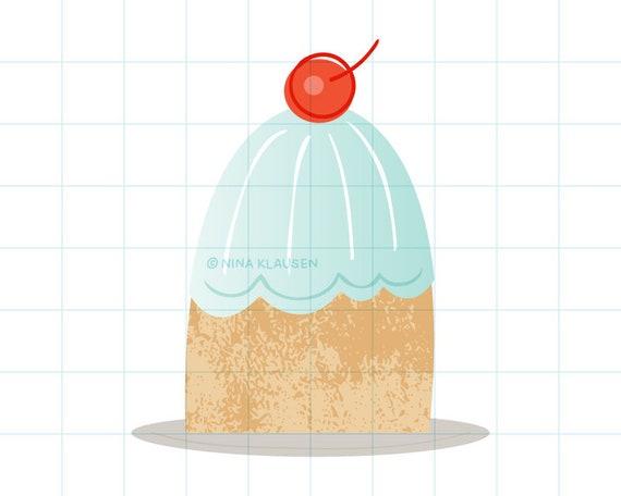 Christmas pudding clip art illustration - C0058