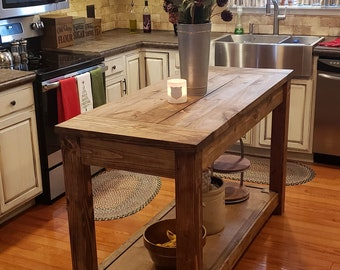 Rustic Kitchen Island Etsy