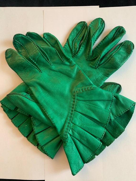 Vintage Hermes leather gloves