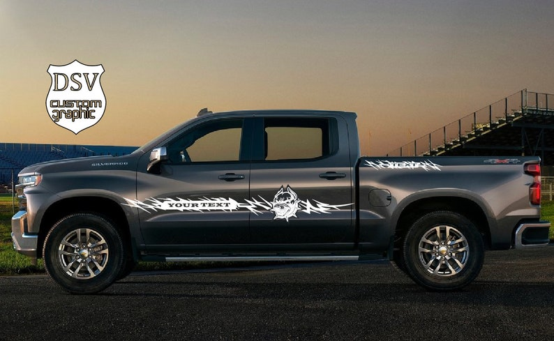 33f6d7ae7d Pickup sticker decal graphic for Chevrolet Silverado 2006-2019