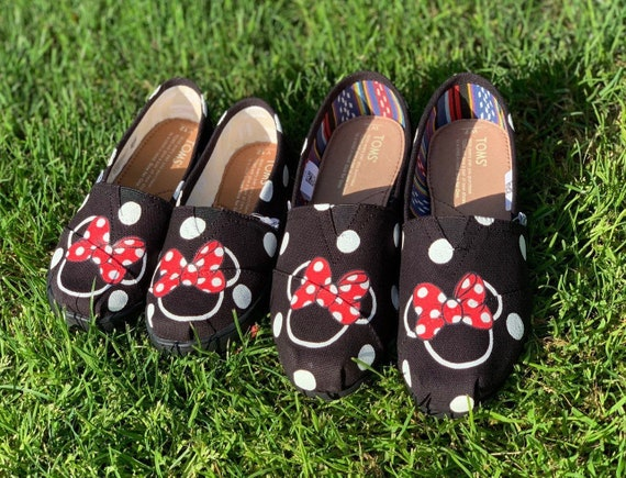 Mommy \u0026 Me Minnie Mouse TOMS   Etsy