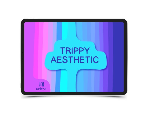 Procreate Color Palette Trippy Aesthetic Bonus Procreate Etsy