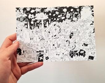 Ansichtkaart Doodle Dreamworld I