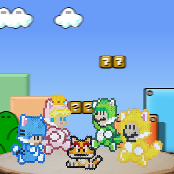 Cat Suit Mario Characters Mario Luigi Toad Princess Peach Etsy