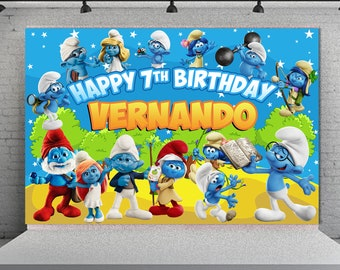 Smurfs Birthday Etsy