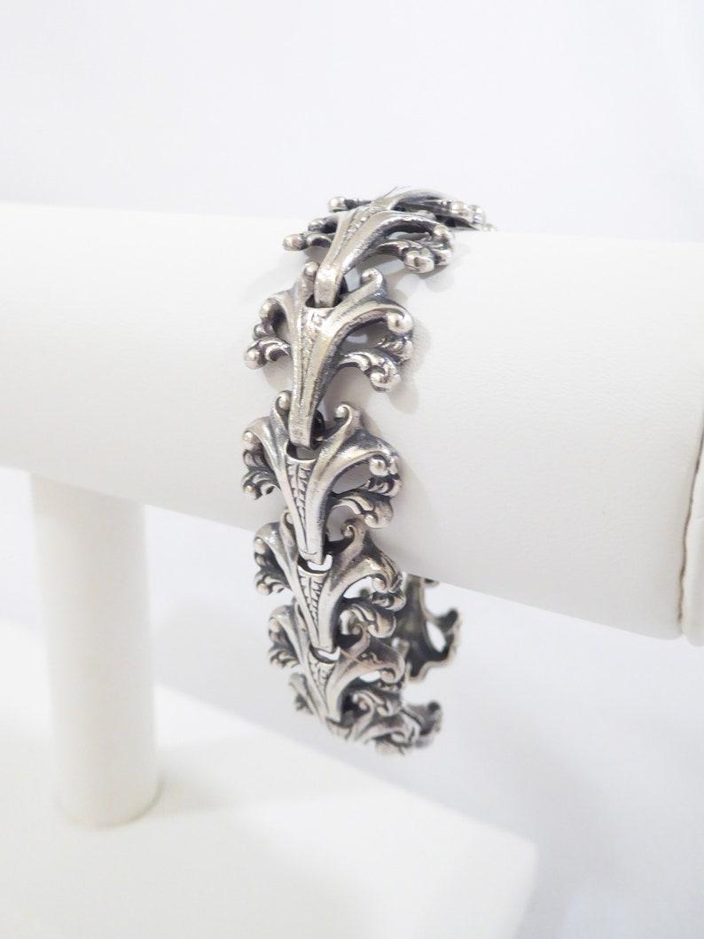 \u201cThe Renaissance\u201d Vintage Guglielmo Cini 925 Sterling Silver Bracelet 7.25\u201d