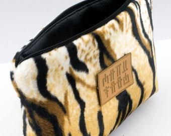 e653d946330a Tiger Skin Cosmetic Bag