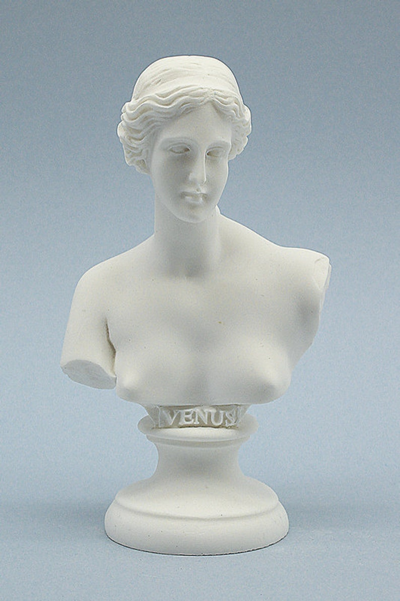 15cm Aphrodite Venus Goddess Bust Greek Roman Mythology Hand Made in Greece  Marble Cast Statue